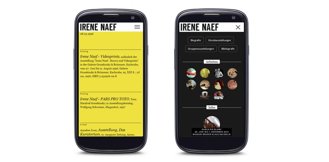 Website Irene Naef
