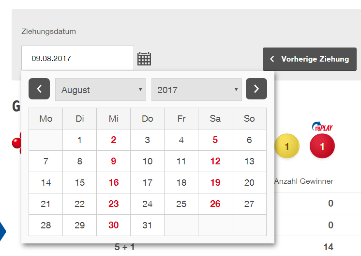 Datepicker UX After