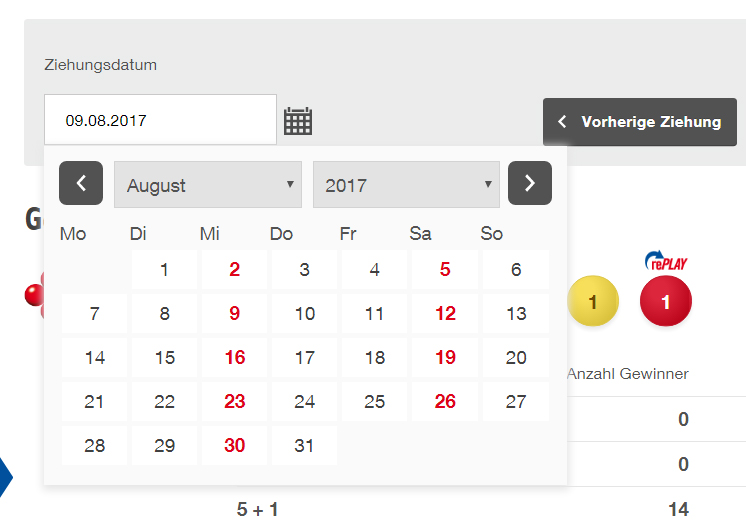 Datepicker UX Before