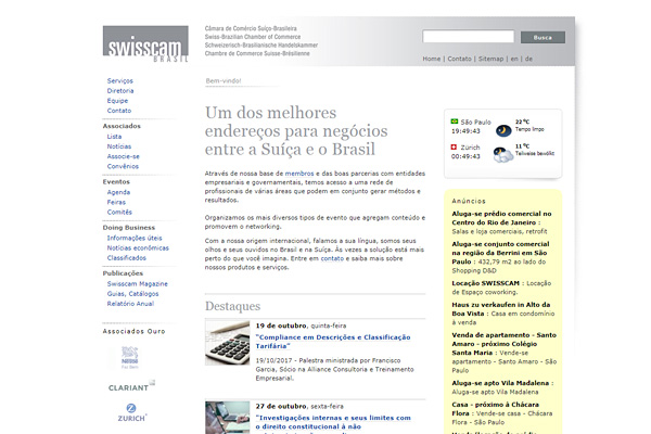 Markus Steiger Project 01562 WebSite Swisscam Brasil