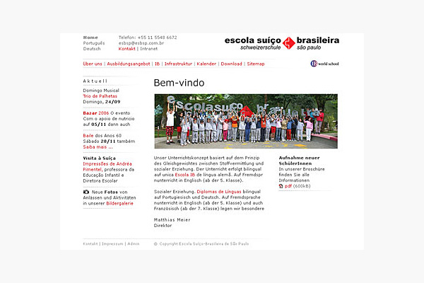 Markus Steiger Project 01619 Website Schweizerschule São Paulo