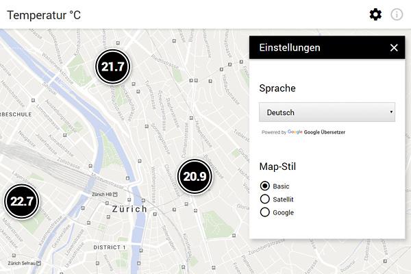 Markus Steiger Project 02850 Temperatur Zürich