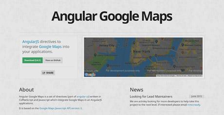 Screenshot Site Angular Google Maps