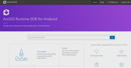 Screenshot Site ArcGIS Runtime SDK for Android