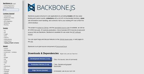 Screenshot Site Backbone