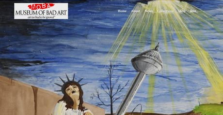 Screenshot Site The Museum Of Bad Art (MOBA)
