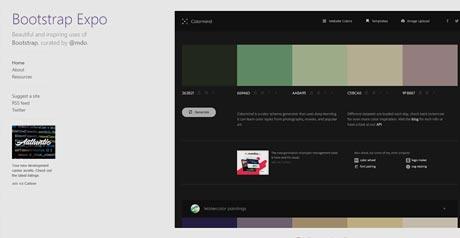 Screenshot Site BootstrapExpo
