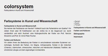 Screenshot Site colorsystem