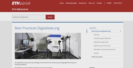 Screenshot Site Best Practices Digitalisierung