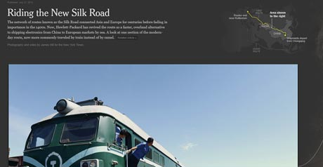 Screenshot Site Riding the New Silk Road