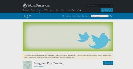 Screenshot Site Evergreen Post Tweeter