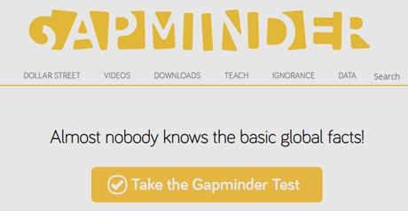 Screenshot Site Gapminder