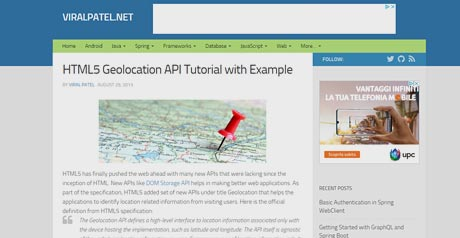 Screenshot Site HTML5 Geolocation API Tutorial With Example