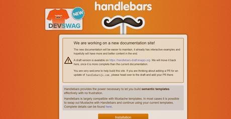 Screenshot Site Handlebars