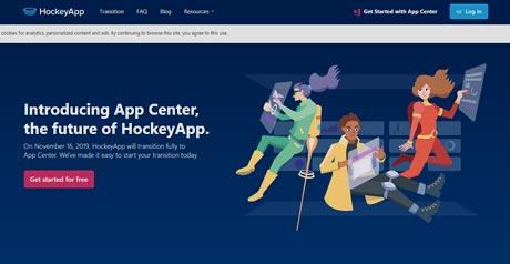 Screenshot Site HockeyApp