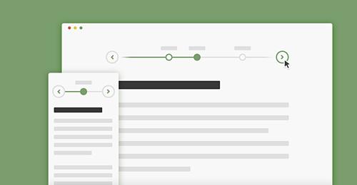 Screenshot Site Horizontal Timeline