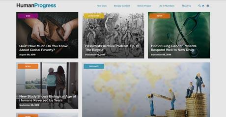 Screenshot Site HumanProgress