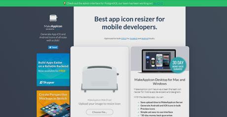 Screenshot Site MakeAppIcon