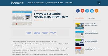 Screenshot Site Google Maps InfoWindow
