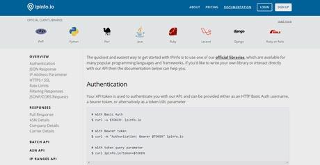 Screenshot Site IP Info