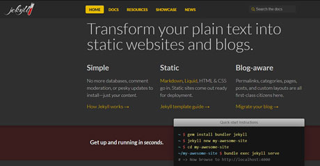 Screenshot Site Jekyll