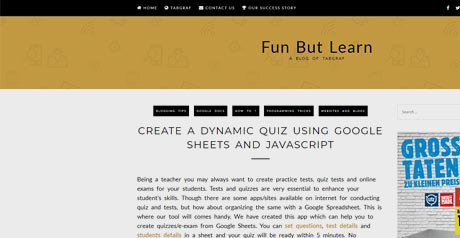 Screenshot Site Quiz Script