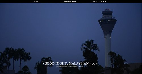 Screenshot Site GOOD NIGHT, MALAYSIAN 370