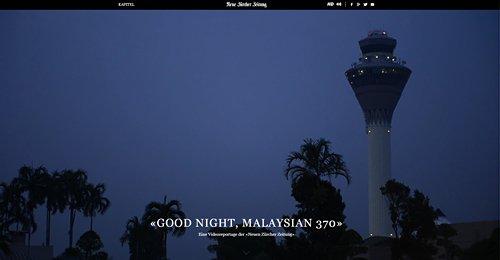 Screenshot Site GOOD NIGHT, MALAYSIAN 370