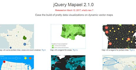 Screenshot Site jQuery Mapael 2.0.0