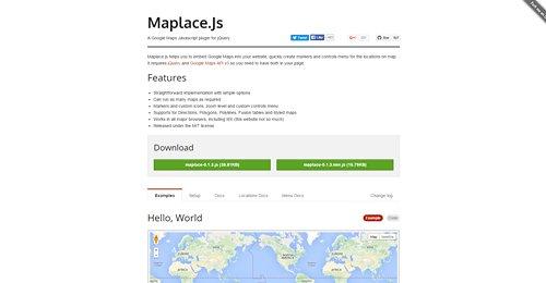 Screenshot Site Maplace.Js