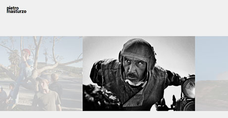Screenshot Site Pietro Masturzo