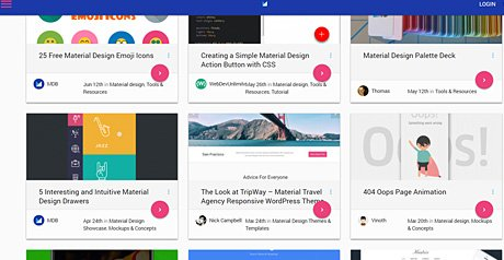 Screenshot Site Material Design Blog