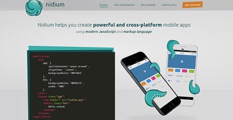 Screenshot Site Nidium