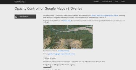 Screenshot Site Opacity Control for Google Maps v3 Overlay