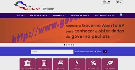 Screenshot Site Opendata Estado de São Paulo