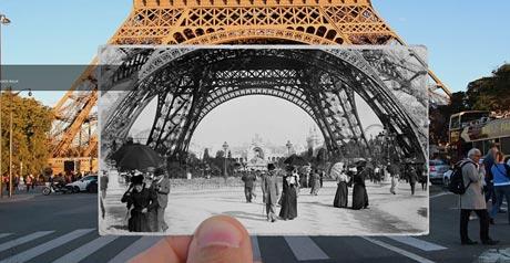 Screenshot Site Windows into Paris' past