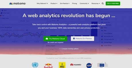 Screenshot Site Piwik