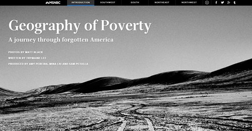 Screenshot Site Geography of Poverty
