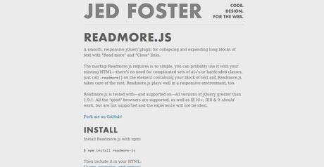 Screenshot Site READMORE JS
