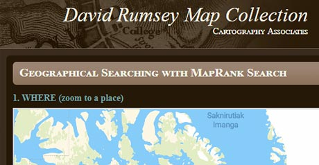 Screenshot Site David Rumsey Map Collection