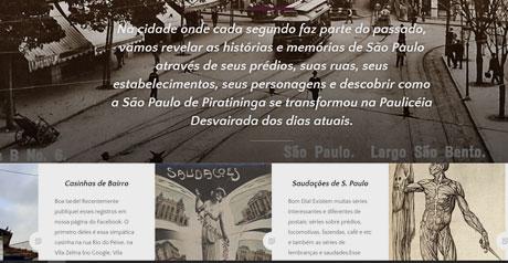 Screenshot Site Sampa Historico