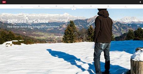 Screenshot Site Sandalen im Schnee
