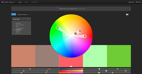Screenshot Site Adobe Color CC