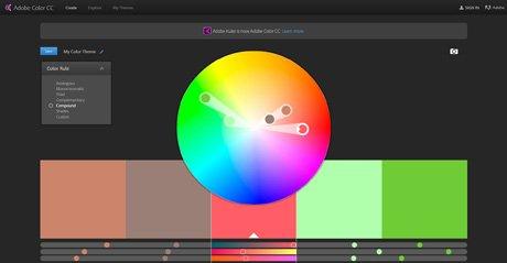 Screenshot Site Adobe Color CC