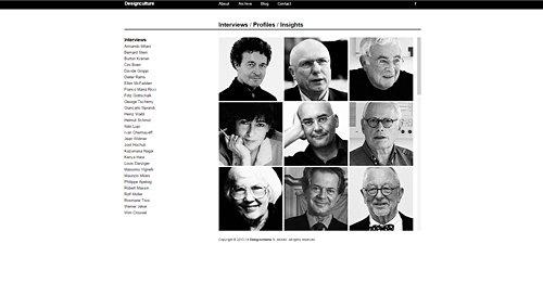 Screenshot Site Designculture - The culture of quality