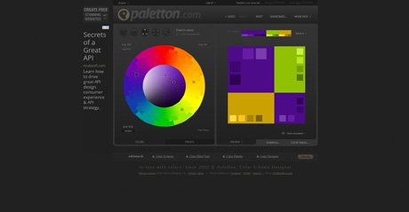 Screenshot Site Paletton