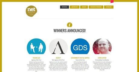 Screenshot Site CELEBRATING THE BEST IN WEB DESIGN AND DEVELOPMENT