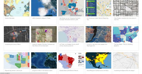 Screenshot Site Cartodb