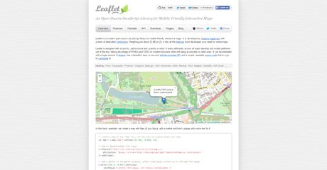 Screenshot Site Leafletjs