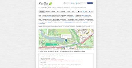 Screenshot Site Leafletjs